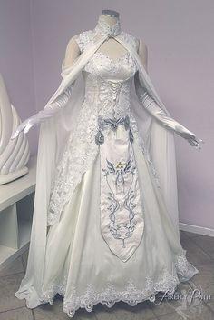 Princess Zelda Wedding Dress from lillyxandra on DeviantArt: http://lillyxandra.deviantart.com/art/Princess-Zelda-Wedding-Dress-581860396