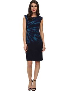 c9ad430158f Calvin Klein - Tie Dye Rayon Sweater Dress Calvin Klein Dress
