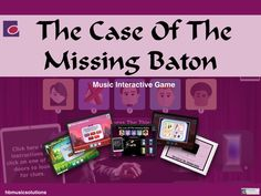 The Case Of The Missing Baton - Music Interactive Game End Of Term, Music Theory, Music Lessons, Teaching Resources, Product Launch, Education, Games, Fun, Teaching Music