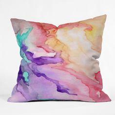 "Rosie Brown ""Color My World"" paint splash throw pillow $39"