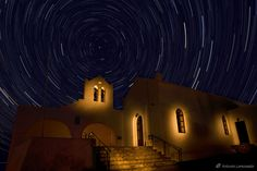 Star trails + light paint @ #Ermoupolis #Syros #Cyclades