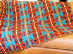 Pendleton wool blanket vibrant colored Native by UrbanCamp on Etsy, $198.00