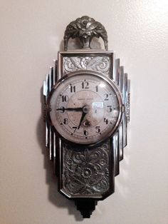 Art Deco Manning Bowman wall clock