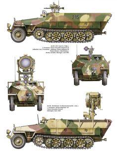 SdKfz. 251/1 Ausf D Falke and SdKfz 251/20 Uhu