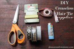 Learn how to make DIY Creaseless Hair Tie - glamorouslymommy.com #DIY