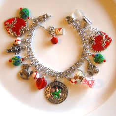 Vintage Sterling Silver Christmas Charm Bracelet W/Charms Ships FREE by BrightAndBeautiful88 on Etsy https://www.etsy.com/listing/193804461/vintage-sterling-silver-christmas-charm