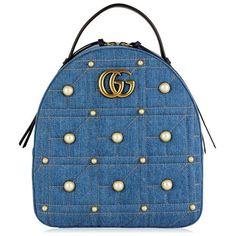 0adf65c98db Gucci Denim Marmont Backpack ( 2