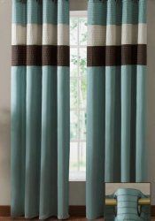#countryliving #dreambedroom The blues and browns in these curtains would look wonderful in the room!