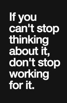 I won't stop.