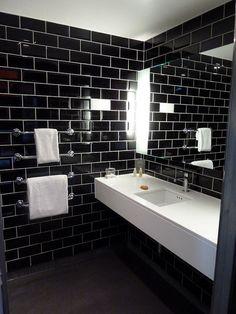 (We - hotel Hotel Bathroom Design, Tiny House Bathroom, Bathroom Renos, Bathroom Layout, Bathroom Wall Decor, Modern Bathroom Design, Small Bathroom, Bathroom Ideas, Shiplap Bathroom