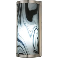 """5.5 Inch W Metro Noir Swirl Half Cylinder Led Wall Sconce. 5.5 Inch W Metro Noir Swirl Half Cylinder Led Wall Sconce Theme:  DECO CONTEMPORARY Product Family:  Metro Noir Swirl Product Type:  WALL SCONCES Product Application:  LED -- ONE LIGHT Color:  BRUSHED NICKEL Bulb Type: LED Bulb Quantity:  2 Bulb Wattage:  5 Product Dimensions:  12.25""""H x 5.5""""W x 4""""DPackage Dimensions:  NABoxed Weight:  3 lbsDim Weight:  10 lbsOversized Shipping Reference:  NAIMPORTANT NOTE:  Every Meyda Tiffany item…"""