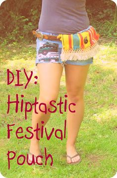 DIY HIPTASTIC FESTIVAL POUCH    if there's time we should try thisss