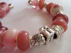 Pink Peace Dove Cross Bracelet by Spasojevich on Etsy, $15.00