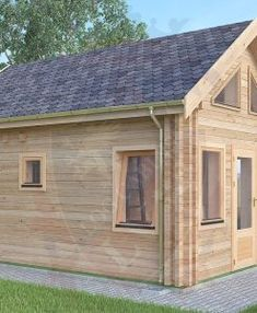 "Ref: 612 ""Rochester"" Log Cabin x Cabin size internal - x Bedroom size - x Bathroom size - x Toilet room size - x Pantry size - x K Log Cabin Sheds, Cedar Cabin, Tiny House Cabin, Tiny House Plans, Log Cabins, Cottage Porch, Kitchen Size, Small Sheds, Window Sizes"