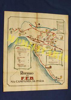 CARTAZ DO ROTEIRO DA FEB NA CAMPANHA DA ITÁLIA – II GUERRA