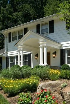 Next Project On Our Ugly Garrison Colonial Portico I Want - Colonial portico front entrance