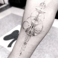 Geometric And Linear Tattoos By Dr. Woo 8