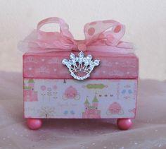 Trinket Box Cinderella Princess Pink by NandJDesigns on Etsy, $27.99