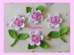 *****Princess Flowers***** 10 pieces White-Ligh... - OnelifeRose - Crochet patches