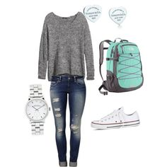 A fashion look from July 2014 featuring H&M sweaters, Mavi jeans y Converse sneakers. Browse and shop related looks.