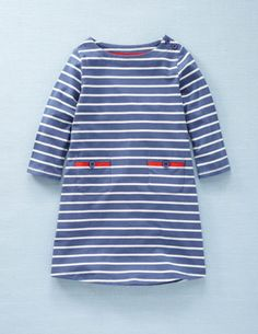 stripy boat neck dress, $34, from @Mary Kate Green