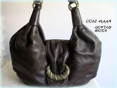 Cole Haan Purse Med Large Leather Brown ALISON PATCHWORK FO6 #ColeHaan…