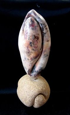 Pit fired form mounted on BRT clay #sculpture #pottery #sculpture #art #pitfired #art #clay