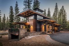 mountain homes 8800 Longwood Ct, Truckee, CA 96161 Modern Mountain Home, Mountain House Plans, Mountain Homes, Mountain Home Exterior, Mountain Living, Plan Chalet, Dream House Exterior, Scandinavian Modern, Modern House Design