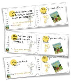 Cartes albums : Le Petit ogre veut aller à l'école - Bout de gomme