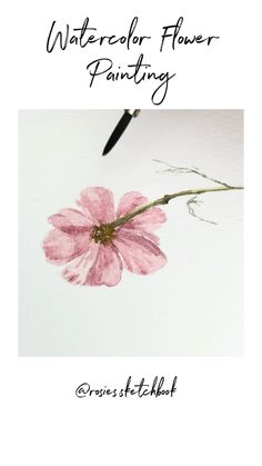 art step by step Watercolor Flower Painting Watercolor Flowers Tutorial, Watercolor Video, Watercolor Painting Techniques, Watercolour Tutorials, Painting Lessons, Flower Tutorial, Floral Watercolor, Drawing Tutorials, Painting & Drawing
