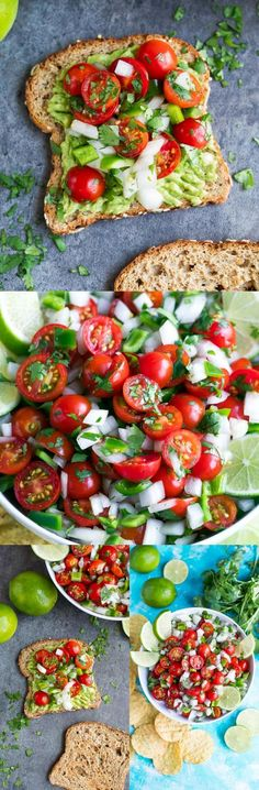 This Avocado Toast is topped with fresh make-ahead cherry t… Hellooooo delicious! This Avocado Toast is topped with fresh make-ahead cherry tomato salsa for a simple yet healthy breakfast or snack! Brunch Recipes, Appetizer Recipes, Breakfast Recipes, Breakfast Healthy, Avocado Breakfast, Avocado Toast, Clean Eating Snacks, Healthy Snacks, Healthy Eating