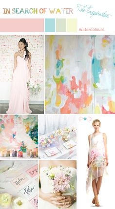 Wedding Inspiration, Wedding Mood Board, Event Styling, Pocketful of Dreams, Event Planning and Design, Mood Board, Wedding Ideas, Wedding Styling, Watercolours, Soft Colours, Pale Wedding Colours, Pink, Peach, Mint, Pastel (1)
