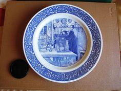 Rorstrand Mothers Day 1974 Plate Mors Dag Swedish DISH 210 mm BLUE