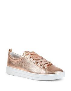 TED BAKER LONDONKellei Metallic Leather Sneakers
