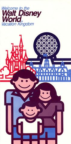 Walt Disney World Vacation Kingdom Brochure-Front...1983