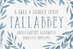 Tall Abbey Serif + 5 Logo Templates by Tom Chalky