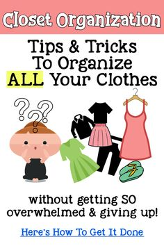 Closet Declutter and Cleanout - How To Sort Clothes In Your Closet {Let's Organize and Declutter ALL Your Clothes!} - Decluttering Your Life Small Closet Organization, Home Organization Hacks, Organizing Ideas, Bedroom Organization, Closet Storage, Organising, Getting Organized At Home, Cleaning Out Closet, Cleaning Tips