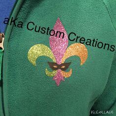 Mardi Gras glitter fleur de Lis jacket!