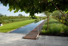pool im garten 50 Amazing Natural Swimming Pools That Will Delight You - Page 10 of 50 Modern Pond, Modern Garden Design, Contemporary Garden, Landscape Design, Swimming Pool Landscaping, Swimming Pool Designs, Swimming Pools, Lap Pools, Natural Swimming Ponds