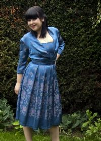 Blue Satin Brocade Cocktail Dress with Bolero £60 from Upstaged Vintage