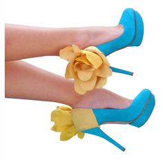 Cute summer flowered-heels