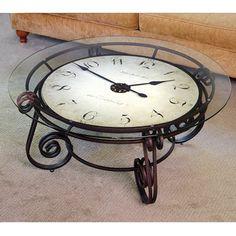 The Analog Clocktail Table - Hammacher Schlemmer