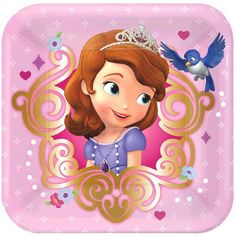 Disney Princess Sofia First Birthday Party Fun Loot Favor 12 x Packs of Crayons
