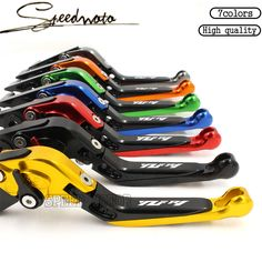 7 Colors Motorcycle Accessories Adjustable Brake Clutch Levers For YAMAHA YZF R1 YZF-R1 2004-2008