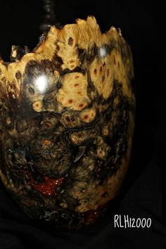 Buckeye Burl Hollow Vessel purchase exotic wood at Cook Woods