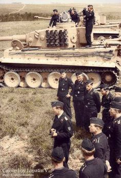 German Tiger tanks & crew, France 1943.