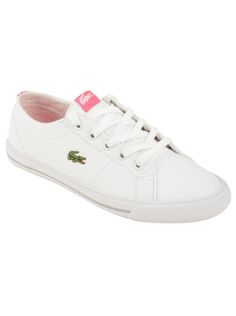 b1a28fe98a Lacoste Toddler Marcel DE in White Pink Looking for a classic sneakers for  your toddler