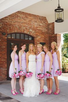 purple jcrew bridesmaids.. If I have a lilac wedding, this is exactly what I hope it will look like.