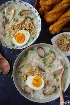 15-minute easy congee with chicken & mushroom (香菇鸡肉粥) | Red House Spice