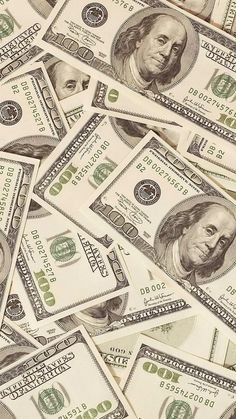 750x1334 Wallpaper money, dollars, bills, background, surface